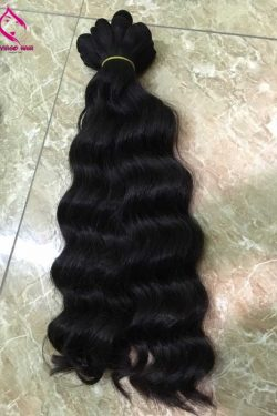 Body wavy double drawn machine weft 18 inches