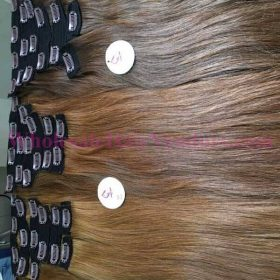 BROWN COLOR STRAIGHT CLIP IN HAIR