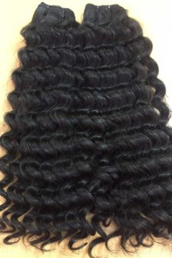 Deep way double drawn weft hair