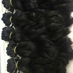 Cambodian natural wavy double drawn weft hair