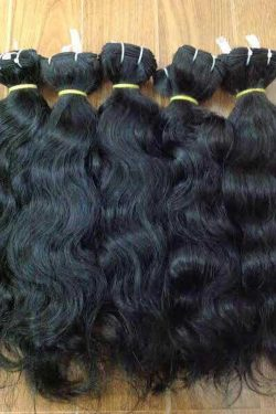 Natural Wavy Single Drawn Weft Hair