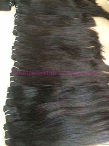 Natural straight single drawn weft hair
