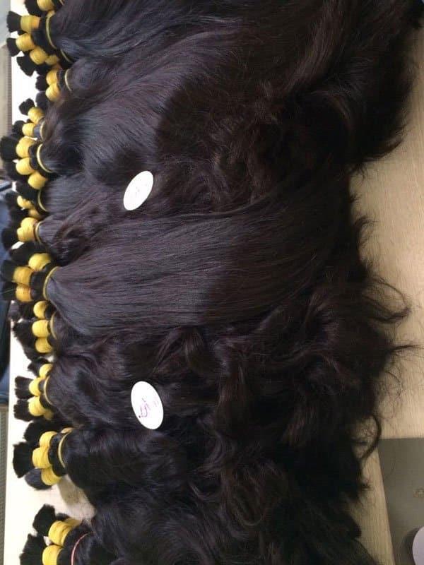 Naturally straight wavy hair