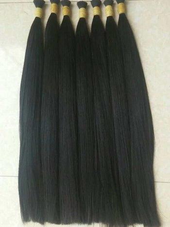 Vietnam human hair natural straight single drawn hair 24 inches