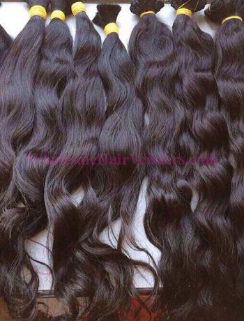 Natural wavy single drawn hair 28 inches