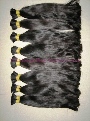 Vietnamese straight double drawn hair