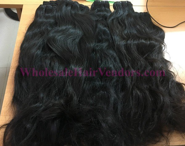 Cambodian natural wavy double drawn hair 20 inches
