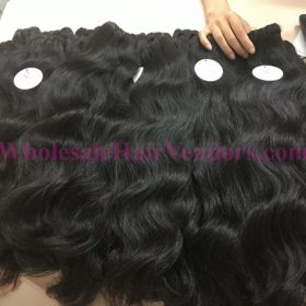 Cambodian natural wavy double drawn weft hair 24 inches