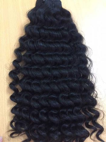 Vietnamese virgin human hair double drawn machine weft deep wavy
