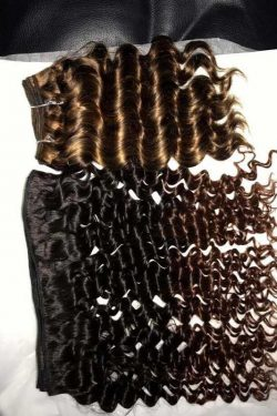 Ombre 1b 4 deep wavy doube drawn weft hair