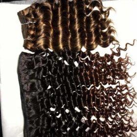 Vietnamese ombre 1b 4 deep wavy doube drawn weft hair