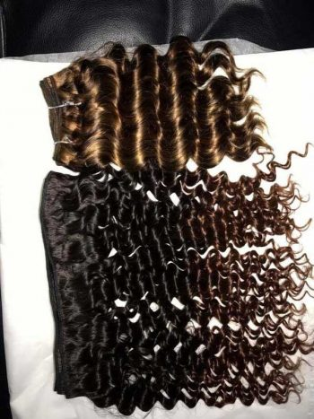Vietnamese ombre 1b 4 deep wavy doube drawn weft hair