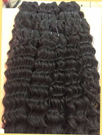 Loose curly single drawn weft hair