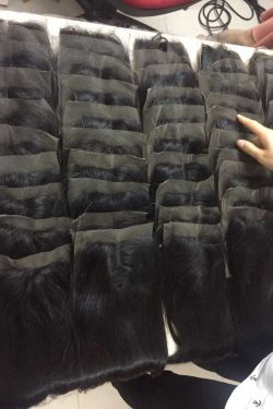 Straight lace closure density 100%