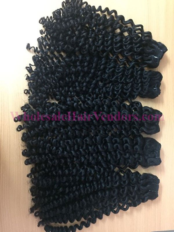 Vietnamese curly super double drawn weft hair