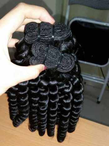 Deep curly double euro machine weft hair