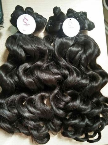 Body wavy double euro machine weft hair 16 inches