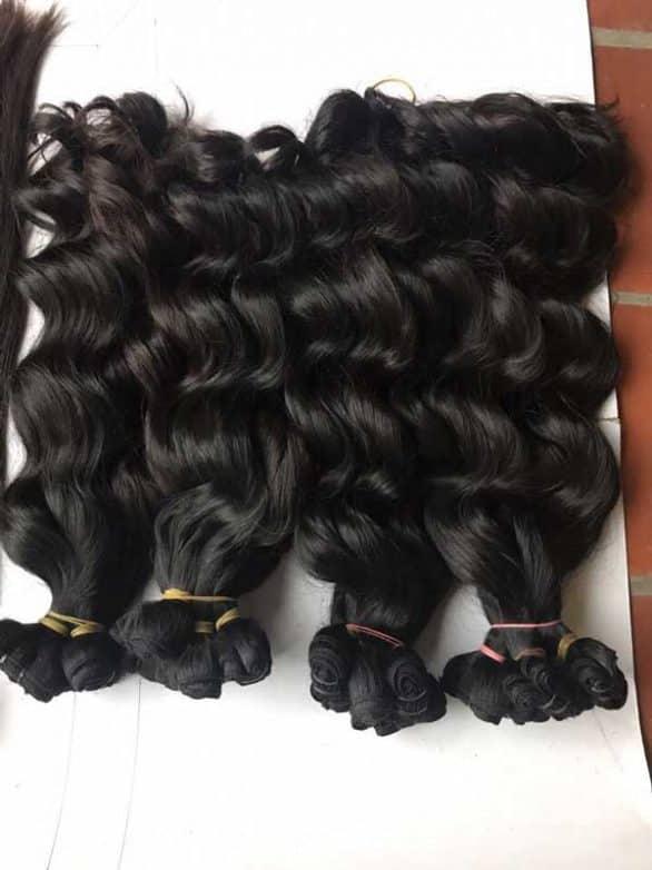 Vietnamese body wavy double euro machine weft hair 18 inches