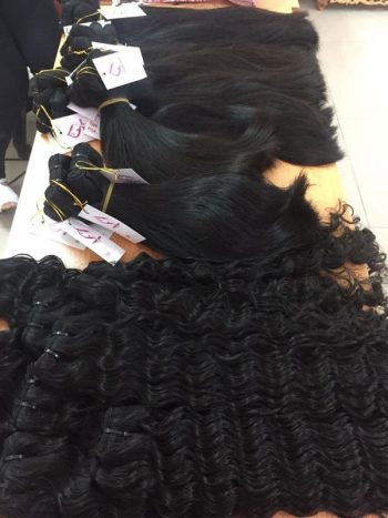 Super double drawn machine weft hair
