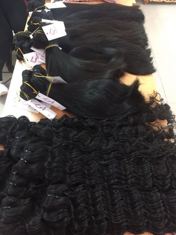 Vietnamese super double drawn machine weft hair