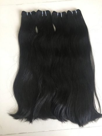 Straight euro double weft hair 14 inches