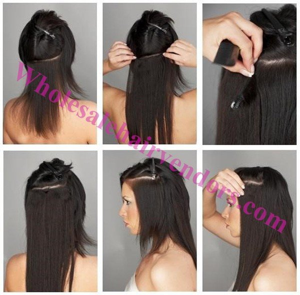 how to install hair extensions ""