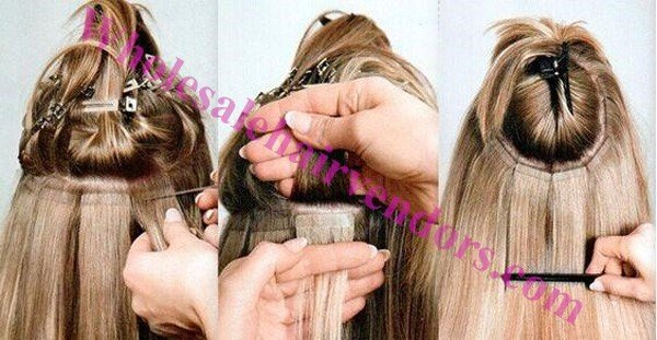 how to install hair extensions
