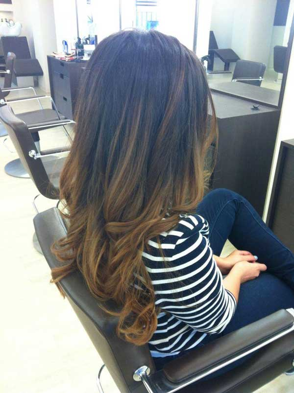 Hair Color Brunette Ombre Dark Brown To Light Ombra Demo Tutorial Hairstyles Diy
