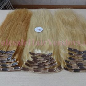 Single piece clip in hair extensions