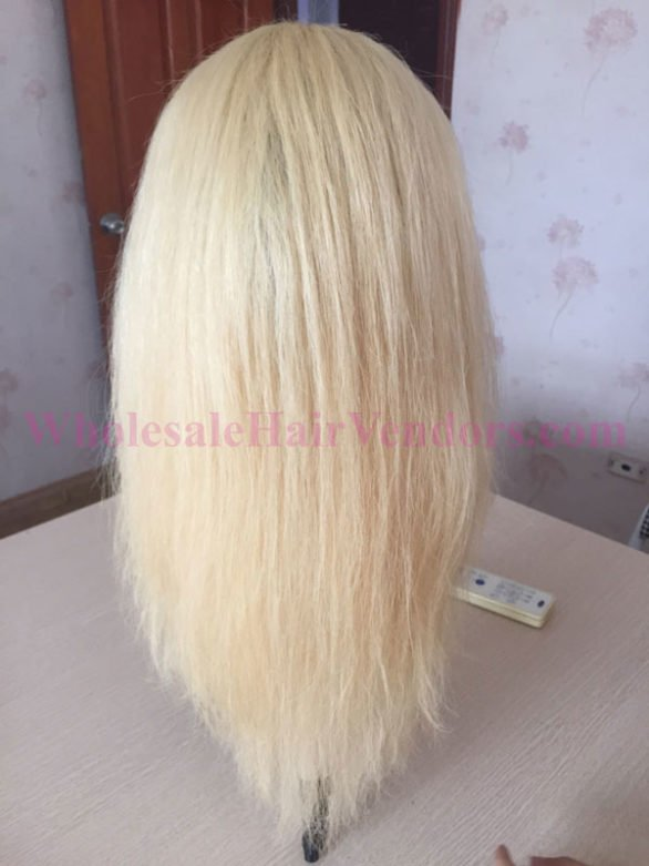 Full lace wig straight blonde
