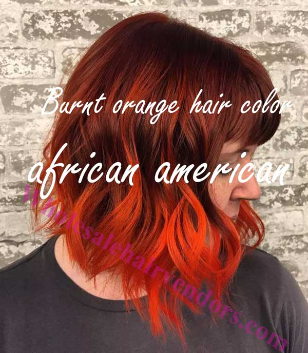 Burnt orange hair color african american