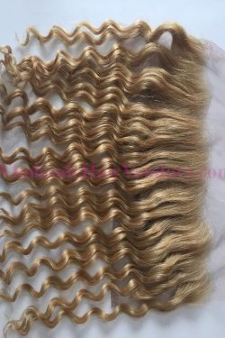 Loose curly lace frontal in #613