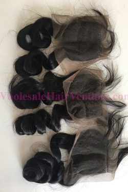 Natural Black body wavy lace closure-min
