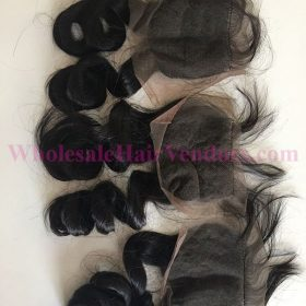 Natural Black body wavy lace closure
