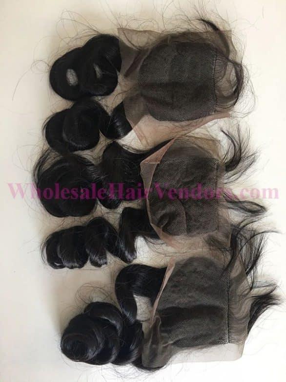 Natural Black body wavy lace closure-min