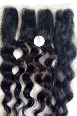"Closure 2""*6"" natural wavy 22"""