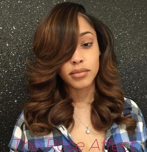 cute sew in hairstyles for black people