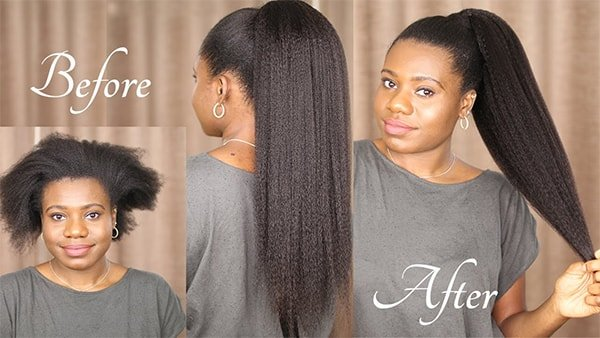 natural hair ponytail extension