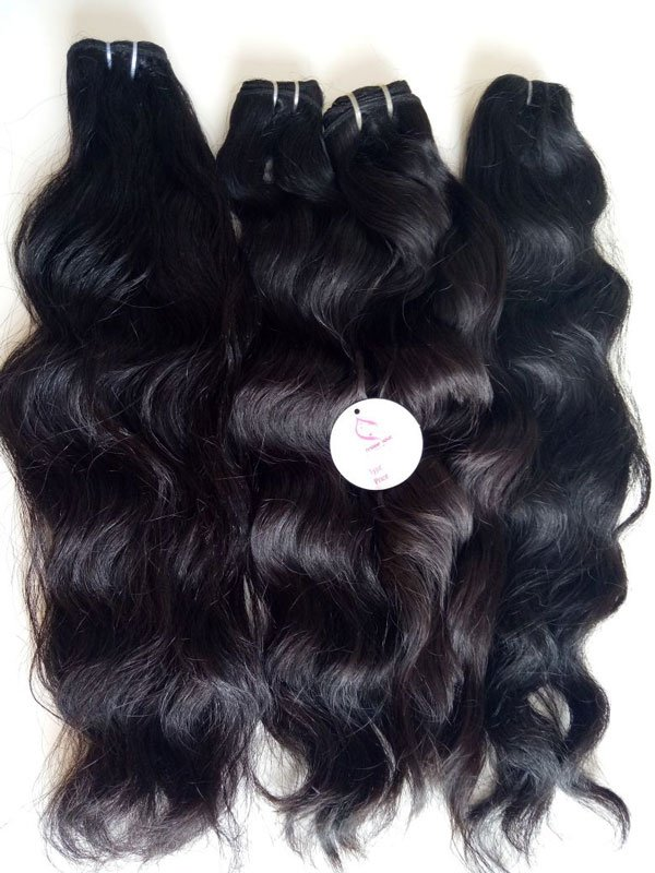 Weft double drawn natural wavy - 18""