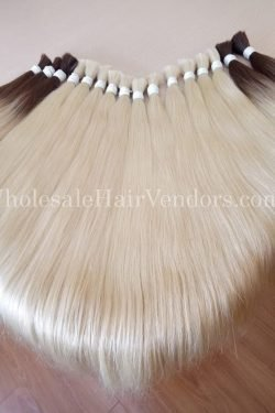 platinum color hair bulk straight