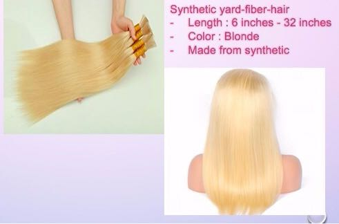 Blonde synthetic yard