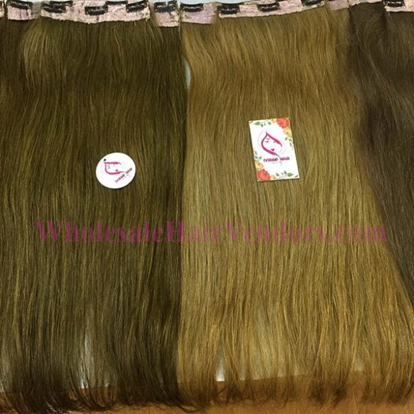 Clip-in hair extensions 22 inches cold shade