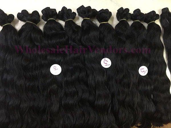 Natural wavy Cambodian hair