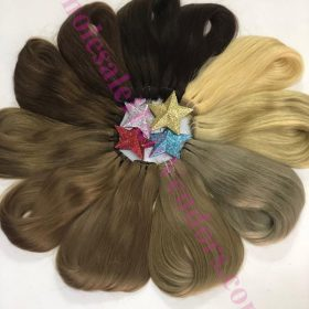 Weft hair many color