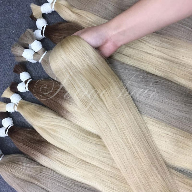 Color 18c, ombre #2c 60c, 60c straight bulk super double drawn hair