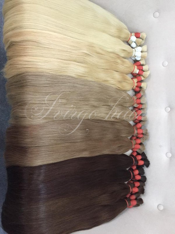 Many color hair straight bulk length 60cm