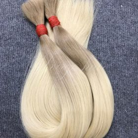 Ombre color two tone blonde straight bulk