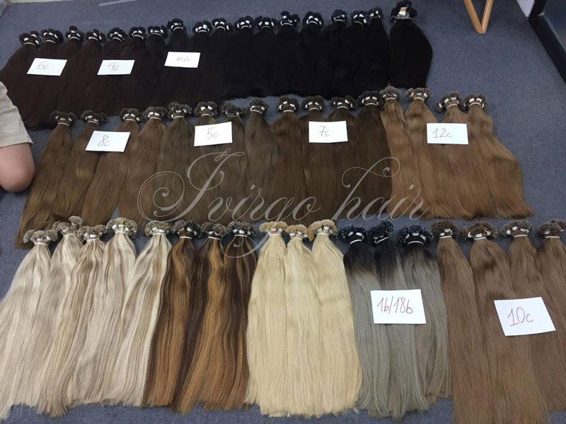 U-tip straight hair color black, brown, blonde length 20 22 inches