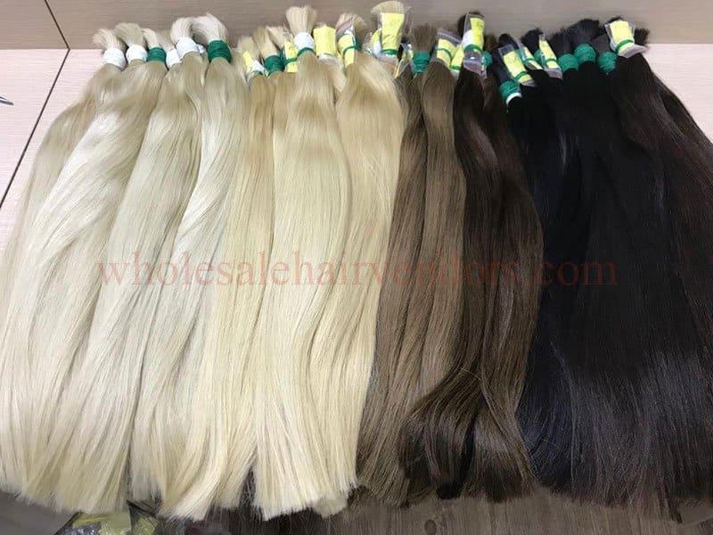 Blonde hair, brown hair and black hair - straight bulk